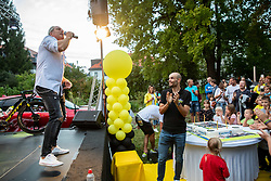 Vili Resnik performs at Reception of Slovenian rider Luka Mezgec after  he finished his first Tour de France 2020 and placed second at 2 stages, on September 21, 2020 in Joze Plecnik garden, Ljubljana, Slovenia. Photo by Vid Ponikvar / Sportida