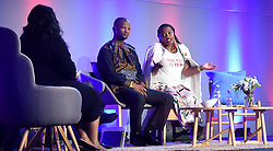 Cape Town-180815 Phumzile van Damme answering a question from the host of the Daily Maverick media  gathering Lindiwe Mazibuko who was asking them about different topics .photograph:Phando Jikelo/African News Agency/ANA