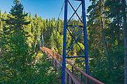 Rotary Bridge over the Grass River below Pisew Falls<br />Pisew Falls Provincial Park<br />Manitoba<br />Canada