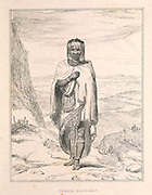 Female Bosjesman [Bushman / Saan] from the book Sketches representing the native tribes, animals, and scenery of southern Africa : from drawings made by the late Mr. Samuel Daniell. by Daniell, Samuel, 1775-1811; Daniell, William, 1769-1837; Barrow, John, Sir, 1764-1848; Somerville, William, 1771-1860; Printed by Richard and Arthur Taylor : Published by William Daniell, and William Wood, London, 1820