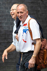 © Licensed to London News Pictures. 24/07/2018. London, UK. British diver Vern Unsworth, who played a leading role in the operation to rescue a group of boys trapped in a cave in Thailand, arrives on Downing Street for a reception with the Prime Minister. Photo credit: Rob Pinney/LNP