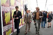 VALENTINO, OPENING OF FRIEZE ART FAIR. Regent's Park. London.  12 October 2011. <br /> <br />  , -DO NOT ARCHIVE-© Copyright Photograph by Dafydd Jones. 248 Clapham Rd. London SW9 0PZ. Tel 0207 820 0771. www.dafjones.com.