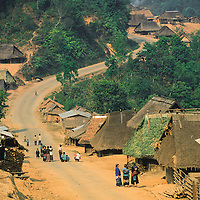 Roadside Hmong village, Muang Singh, Laos