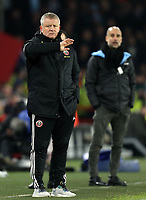 Sheffield United manager Chris Wilder gestures from his technical area <br /> <br /> Photographer Rich Linley/CameraSport<br /> <br /> The Premier League - Sheffield United v Manchester City - Tuesday 21st January 2020 - Bramall Lane - Sheffield<br /> <br /> World Copyright © 2020 CameraSport. All rights reserved. 43 Linden Ave. Countesthorpe. Leicester. England. LE8 5PG - Tel: +44 (0) 116 277 4147 - admin@camerasport.com - www.camerasport.com
