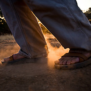 Photographers Feet on trail
