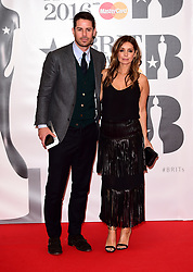 Jamie Redknapp and Louise Redknapp arriving for the 2016 Brit Awards at the O2 Arena, London. PRESS ASSOCIATION Photo. Picture date: Wednesday February 24, 2016. See PA story SHOWBIZ Brits. Photo credit should read: Ian West/PA Wire