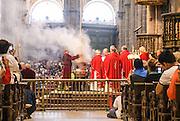 Interior of St James Cathedral Santiago de Compostela, Galicia, Spain