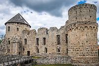 LATVIA, CESIS - CIRCA JUNE 2014: The Cesis Castle, (Wenden) in Latvia