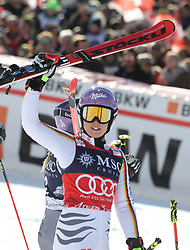 27.01.2018, Lenzerheide, SUI, FIS Weltcup Ski Alpin, Lenzerheide, Riesenslalom, Damen, Flower Zeremonie, im Bild Viktoria Rebensburg (GER) // Viktoria Rebensburg (GER) during the Flowers ceremony for the ladie's Giant Slalom of FIS Ski Alpine World Cup in Lenzerheide, Austria on 2018/01/27. EXPA Pictures © 2018, PhotoCredit: EXPA/ Sammy Minkoff<br /> <br /> *****ATTENTION - OUT of GER*****