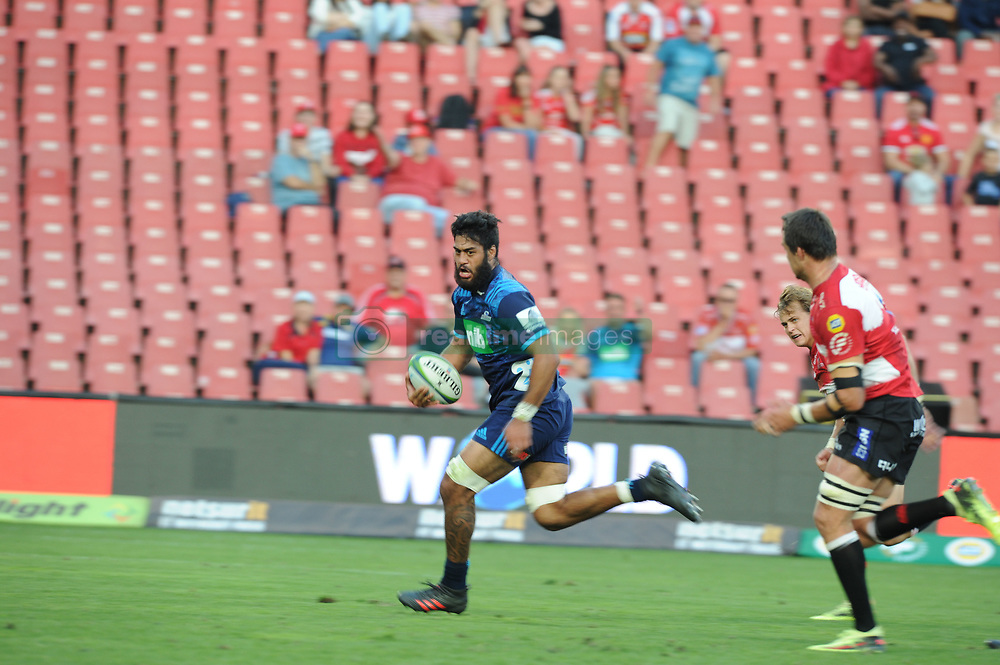 Akira Ioane heads for the try line. Lions vs Blues during a Super Rugby match at the Emirates Airlines Park Stadium, Ellis Park, Johannesburg, South Africa. Picture: Karen Sandison/African News Agency (ANA)
