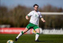 WREXHAM, WALES - Friday, March 26, 2021: Republic of Ireland's Will Ferry during an Under-21 international friendly match between Wales and Republic of Ireland at Colliers Park. Republic of Ireland won 2-1. (Pic by David Rawcliffe/Propaganda)