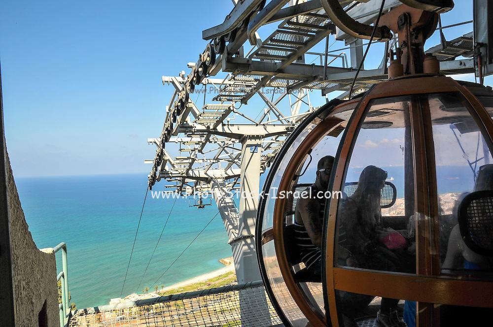 Israel, Haifa, the Stella Maris cable car upper station