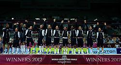 01-07-2012 VOLLEYBAL: WGP FINAL PRIJSUITREIKING: NINGBO<br /> USA pakt het goud op de WGP 2012<br /> ©2012-FotoHoogendoorn.nl