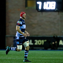 James Botham of Cardiff Blues comes on for his first game<br /> <br /> Photographer Simon King/Replay Images<br /> <br /> Guinness PRO14 Round 14 - Cardiff Blues v Connacht - Saturday 26th January 2019 - Cardiff Arms Park - Cardiff<br /> <br /> World Copyright © Replay Images . All rights reserved. info@replayimages.co.uk - http://replayimages.co.uk