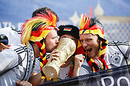 Fans of Germany before the 2018 FIFA World Cup Russia, Group F football match between Germany and Mexico on June 17, 2018 at Luzhniki Stadium in Moscow, Russia - Photo Thiago Bernardes / FramePhoto / ProSportsImages / DPPI