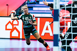 Noemi Hafra of Hungary during the Women's EHF Euro 2020 match between Serbia and Hungary at Sydbank Arena on december 06, 2020 in Kolding, Denmark (Photo by RHF Agency/Ronald Hoogendoorn)