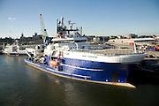 Bibby Sapphire ship, Port harbour, Aberdeen, Scotland