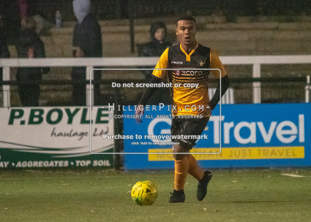 BROMLEY, UK - NOVEMBER 21: The FA Youth Cup 2nd round match between Cray Wanderers and Portsmouth at Hayes Lane on November 21, 2018 in Bromley, UK. (Photo: Jon Hilliger)