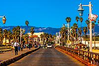 Stearns Wharf, Santa Barbara, California USA.