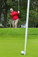 VIJFHUIZEN - Instructie met golf professional JURRIAN VAN DER VAART van Golf Team Holland. FOTO KOEN SUYK