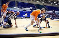 ROTTERDAM - Bloemendaal wint de finale van HDM.  Landskampioenschap zaalhockey voor reserveteams. FOTO KOEN SUYK