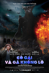 RELEASE DATE: April 21, 2017 TITLE: Colossal STUDIO: DIRECTOR: Nacho Vigalondo PLOT: Gloria is an out-of-work party girl forced to leave her life in New York City and move back home. When reports surface that a giant creature is destroying Seoul, she gradually comes to the realization that she is somehow connected to this phenomenon. STARRING: Poster Art in Vietnamese. (Credit Image: ? Brightlight Pictures/Entertainment Pictures/ZUMAPRESS.com)