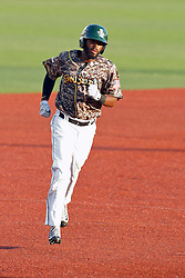 29 July 2016: Elvin Rodriguez lopes to 3rd as he takes a home run trot during a Frontier League Baseball game between the Lake Erie Crushers and the Normal CornBelters at Corn Crib Stadium on the campus of Heartland Community College in Normal Illinois