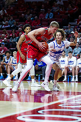 NORMAL, IL - February 22: Taylor Bruninga gets the rebound sought after by Noah Thomas during a college basketball game between the ISU Redbirds and the Drake Bulldogs on February 22 2020 at Redbird Arena in Normal, IL. (Photo by Alan Look)