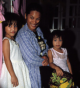 Tabin Wildlife Sanctuary, Sabah. December 24th: Portrait of mother and daughters at Tabin Wildlife Sanctuary.