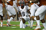 AUSTIN, TX - SEPTEMBER 14: Jaylen Walton #6 of the Mississippi Rebels gets up after a run against the Texas Longhorns on September 14, 2013 at Darrell K Royal-Texas Memorial Stadium in Austin, Texas.  (Photo by Cooper Neill/Getty Images) *** Local Caption *** Jaylen Walton
