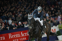 Martin Jean Marie (FRA) - Johnny Boy <br /> Winner with a new record for 'De Nekkerhal' of 2 m27<br /> in the Puissance - Jumping Mechelen 2010<br /> © Dirk Caremans
