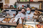Franco and sarah who own and run the polentoni cafe on easter road edinburgh.