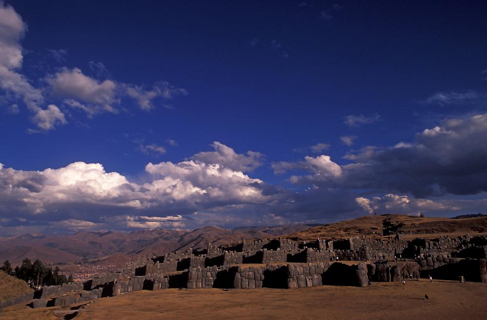 Inca stone fortress of Sacsayhuaman, above Cuzco, Peru