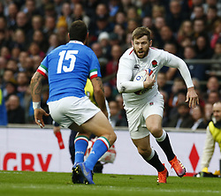 March 9, 2019 - London, England, United Kingdom - London, ENGLAND, 9th March .Elliott Daly of England  .during the Guinness 6 Nations Rugby match between England and Italy at Twickenham  stadium in Twickenham  England on 9th March 2019. (Credit Image: © Action Foto Sport/NurPhoto via ZUMA Press)