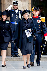 Queen Margrethe of Denmark at the funeral of Grand Duke Jean of Luxembourg at Cathedral Notre-Dame of Luxembourg in Luxembourg City, Luxembourg on May 4, 2019. Photo by Robin Utrecht/ABACAPRESS.COM