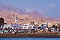Sultanat d'Oman, gouvernorat de Muscate, Quriyat, village de pêcheur  // Sultanat of Oman, Gulf of Oman, Mascat, Quriyat District, Quriyat, a fishing village
