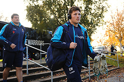 Ethan Waller and the rest of the Worcester Warriors team arrive at Allianz Park - Mandatory byline: Patrick Khachfe/JMP - 07966 386802 - 11/11/2018 - RUGBY UNION - Allianz Park - London, England - Saracens v Worcester Warriors - Premiership Rugby Cup