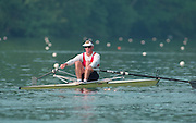 Lucerne, Switzerland. 1995 FISA WC III, Lake Rotsee, Lucerne,<br /> GER M1X Thomas LANGE.<br /> [Mandatory Credit. Peter SPURRIER/Intersport Images]<br /> <br /> Image scanned from Colour Negative