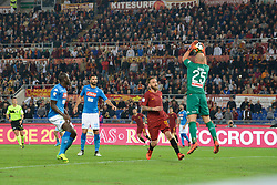 October 14, 2017 - Rome, Italy - Jose Manuel Reina, Daniele De Rossi during the Italian Serie A football match between A.S. Roma and S.S.C. Napoli at the Olympic Stadium in Rome, on october 14, 2017. (Credit Image: © Silvia Lor/Pacific Press via ZUMA Wire)