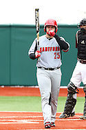 21 February 2015: Hartford's Billy Walker. The Iona College Gaels played the University of Hartford Hawks in an NCAA Division I Men's baseball game at Jack Coombs Field in Durham, North Carolina as part of the Duke Baseball Classic. Hartford won the game 12-1.