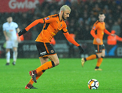 Romain Saiss of Wolverhampton Wanderers in action -Mandatory by-line: Nizaam Jones/JMP- 17/01/2018 - FOOTBALL - Liberty Stadium- Swansea, Wales - Swansea City v Wolverhampton Wanderers - Emirates FA Cup third round proper