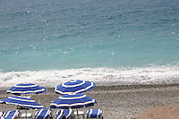 Private Beach at Promenade des Anglais Nice France