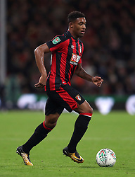 """AFC Bournemouth's Jordon Ibe during the Carabao Cup, Fourth Round match at the Vitality Stadium, Bournemouth. PRESS ASSOCIATION Photo. Picture date: Tuesday October 24, 2017. See PA story SOCCER Bournemouth. Photo credit should read: Andrew Matthews/PA Wire. RESTRICTIONS: EDITORIAL USE ONLY No use with unauthorised audio, video, data, fixture lists, club/league logos or """"live"""" services. Online in-match use limited to 75 images, no video emulation. No use in betting, games or single club/league/player publications."""