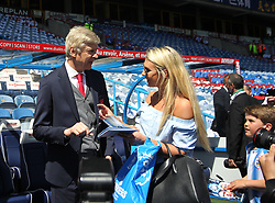 Arsenal manager Arsene Wenger signs autographs before the match - Mandatory by-line: Jack Phillips/JMP - 13/05/2018 - FOOTBALL - The John Smith's Stadium - Huddersfield, England - Huddersfield Town v Arsenal - English Premier League