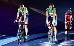 Australia's Georgia Baker and Ashley Ankudinoff win the Women's 20km Madison during day six of the Six Day Series at Lee Valley Velopark, London