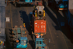 Loading storage containers at the Port of Houston