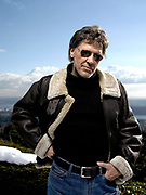 Singer and musician John Kay of Steppenwolf at his home in Vancouver, BC Canada