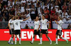 05.07.2011, Borussia-Park, Moenchengladbach, GER, FIFA Women Worldcup 2011, Gruppe A,  Frankreich (FRA) Deutschland (GER) ,. im Bild Torjubel Deutschland nach dem 2:0 durch Inka Grings (GER)  . // during the FIFA Women´s Worldcup 2011, Pool A,France vs Germany on 2011/06/26, Borussia-Park, Moenchengladbach, Germany. EXPA Pictures © 2011, PhotoCredit: EXPA/ nph/  Karina Hessland       ****** out of GER / CRO  / BEL ******