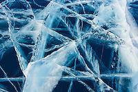 Mongolie, province de Khovsgol, lac gelée de Khovsgol en hiver // Mongolia, Khovsgol province, the frozen lake of Khovsgol in winter