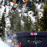 British National Snowboard Team member Ben Kilner competes in the half pipe during qualifying at the 2009 LG Snowboard FIS World Cup at Cypress Mountain, British Columbia, on February 16th, 2009. Kilner finished 42nd in the field of 70.